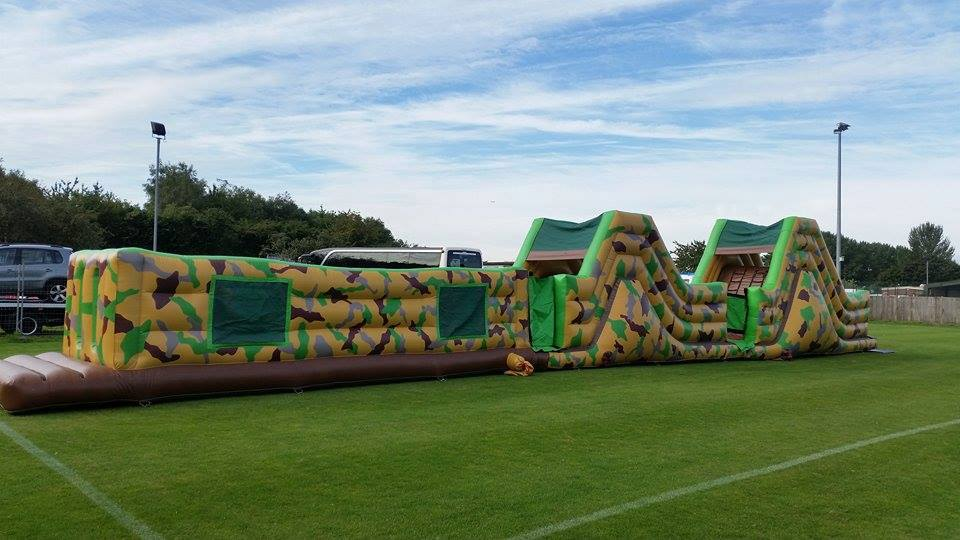75ft Army Assault Course Inflatable Hire